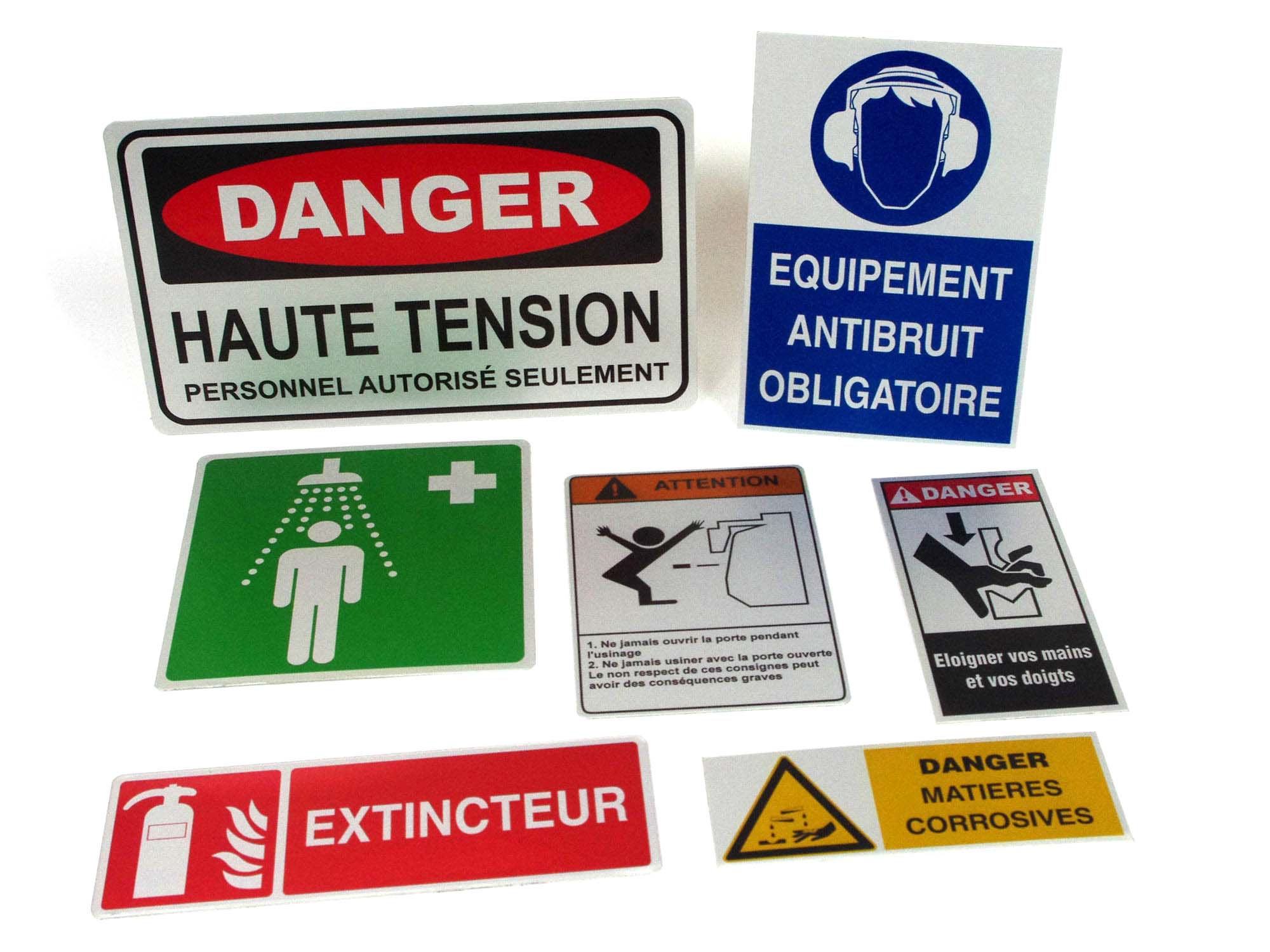 Plaque signalétique sécurité